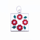 Rose Of Sharon Charm by Pin Peddlers