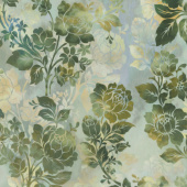 Diaphanous - Night Bloom Leaf Digitally Printed Yardage
