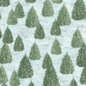 Winter White: Solstice - Winter Christmas Metallic Yardage