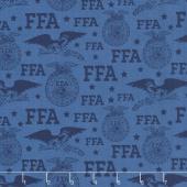 FFA Forever Blue - FFA Logo Blue Yardage