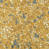 Gustav Klimt - Rocks Gold Metallic Yardage