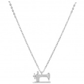 Sewing Machine Charm Pendant - Silver