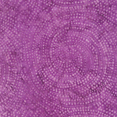 Tonga Batiks - Colorwheel Plume Dotty Spiral Petunia Yardage