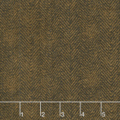 Woolies Flannel - Herringbone Brown Yardage