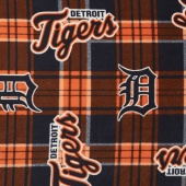 MLB Fleece - Detroit Tigers Blue/Orange Yardage
