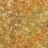 Artisan Batiks - Cornucopia 9 Sunflowers Amber Yardage