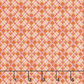 Autumn Love - Plaid Orange Yardage