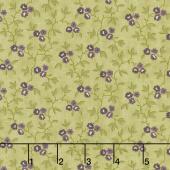 Clover Meadow - Vines & Flowers Green Yardage