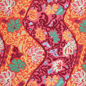 Kaffe Fassett Collective Spring 2019 - Bright Bali Brocade Red Yardage
