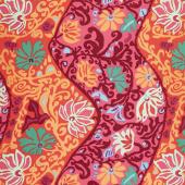 Kaffe Fassett Collective Spring 2019 - Bright Bali Brocade Red Yardage