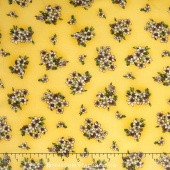 Belcourt - Florals Buttercup Yellow Yardage