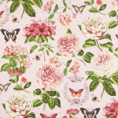 Le Bouquet - Large Floral Pink Yardage