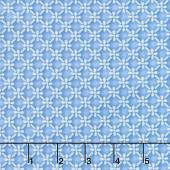 Silver Jubilee - Diagonal Geo Blue Silver Metallic Yardage