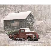Christmas Memories - Tree Farm Truck Panel