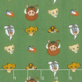 The Lion King - Character Heads Green Yardage