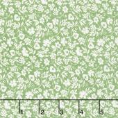 Merry Go Round - Mono Floral Green Yardage
