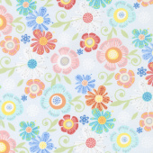 Home Grown - Floral Gray Yardage
