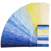 French Blue Batiks Strips