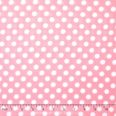 Little One Flannel Too ! - Dots Pink/White Yardage