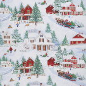 Bringing Home Christmas - Scenic Snow Fun Yardage