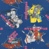 Transformers - Geo in Navy Yardage