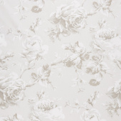 "Rose Garden - Floral in Taupe 108"" Wide Backing"