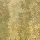 Diaphanous - Enchanted Vines Gold Digitally Printed Yardage