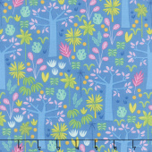 Under the Canopy - In the Mighty Jungle Blue Yardage