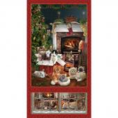Fireside Kittens - Kittens Banner Red Panel