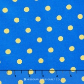 Wonderland - Caterpillar Dots Cobalt Metallic Yardage