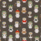 Campsite Critters Flannel - Owls Nature Yardage