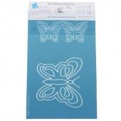 Full Line Stencil - Butterfly Motif & Border Stencil