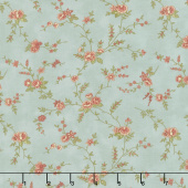 Memoirs - Romantic Blooms Patina Yardage