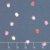 Wild Bouquet - Raspberries Navy Yardage