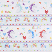 Sparkle Magic Shine - Repeating Stripe Multi Yardage