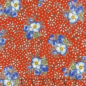 Merry Go Round - Large Floral Red Yardage