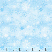 Snow Valley - Snowflakes Blue Yardage