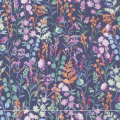 Lilac & Sage - Wildflowers Purple Copper Pearl Metallic Yardage