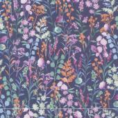 Lilac & Sage - Wildflowers Purple Copper Pearl Metallic Yardage