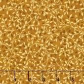 Holiday Flourish 10 - Holiday Leafy Vines Gold Metallic Yardage