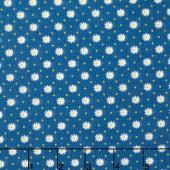 Gingham Girls - Gingham Flower Blue Yardage