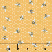 Bee Kind - Honeycomb Bee Yellow Multi Yardage
