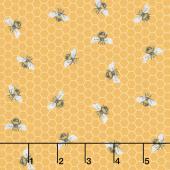 Bee Kind - Honeycomb Bee Yellow Multi Yardage