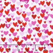 Big Love - Small Hearts White/Pink Yardage
