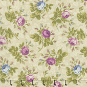 Hat Box - Mini Roses Cream Yardage