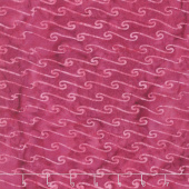 Ocean Odyssey Batiks - Scroll Wave Magenta Yardage