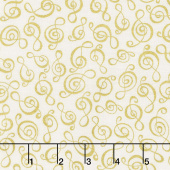 Novelty - Clef Cream Yardage