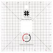 """EZ Quilting Leftie Rightie Square Up 4.5"""" Ruler"""