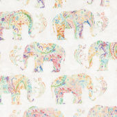 Bohemian Dreams - Elephants Cream Yardage
