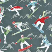 Winter Games - Athletes Grey Yardage